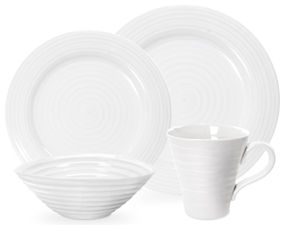 Portmeirion Sophie Conran White Place Setting Four Piece