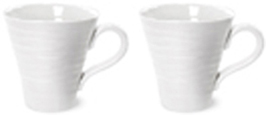 Portmeirion Sophie Conran White Mug Solo Set of Two