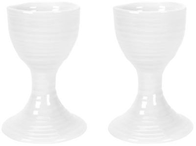 Portmeirion Sophie Conran White Egg Cups Set of Two
