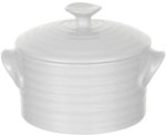 Portmeirion Sophie Conran White Pot covered round