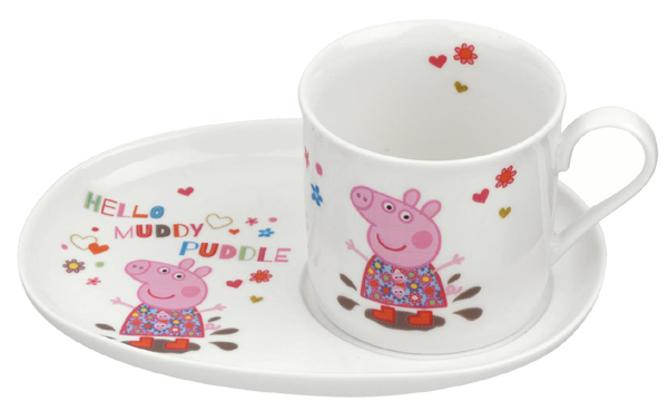 Portmeirion Peppa Pig Mug and Snack Plate Boxed