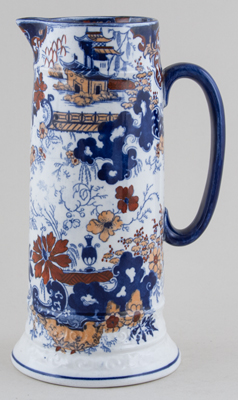 Ridgway Chinese Japan blue with colour Jug or Pitcher c1900
