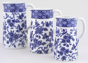 Jugs or Pitchers Set of Three c1886