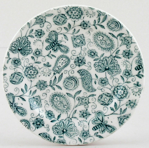Ridgway Chintz green Toy Plate c1900