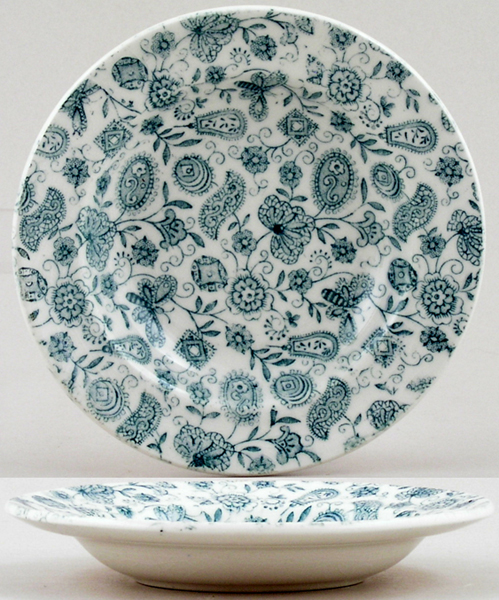 Ridgway Chintz green Toy Soup Plate c1901