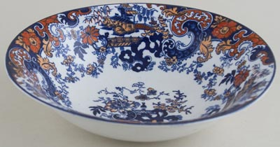 Ridgway Chinese Japan blue with colour Bowl c1916