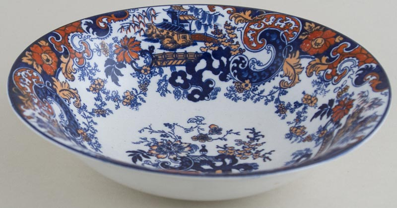 Ridgway Chinese Japan blue with colour Bowl c1915