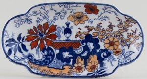 Ridgway Chinese Japan blue with colour Pin Tray c1920