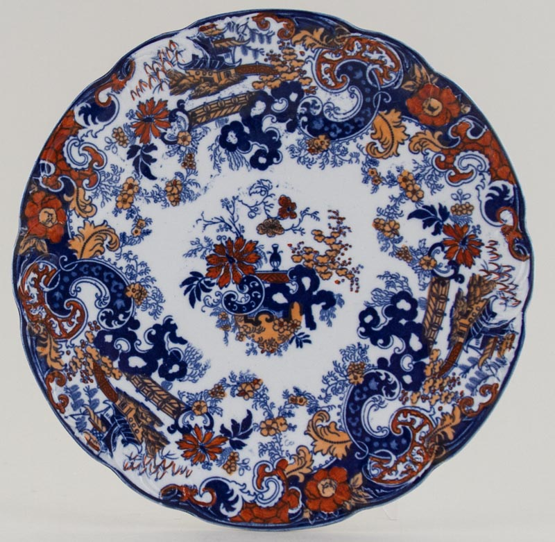 Ridgway Chinese Japan blue with colour Plate c1917