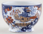 Ridgway Chinese Japan blue with colour Small Pot c1900