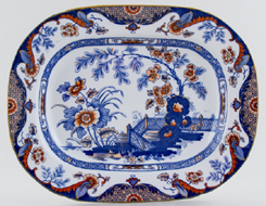 Ridgway Anglesey blue with colour Meat Dish or Platter small c1914