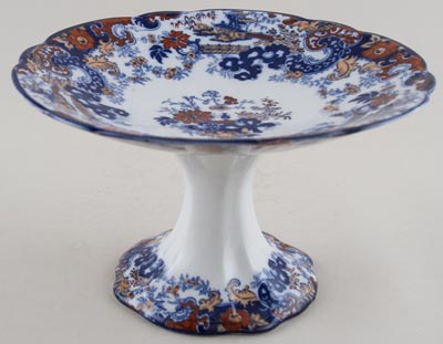 Ridgway Chinese Japan blue with colour Tazza c1900