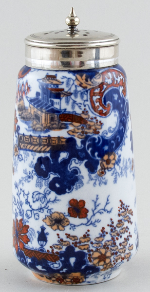 Ridgway Chinese Japan blue with colour Sugar Shaker c1920s