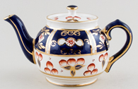 Sadler Unidentified Pattern blue with colour Teapot c1950