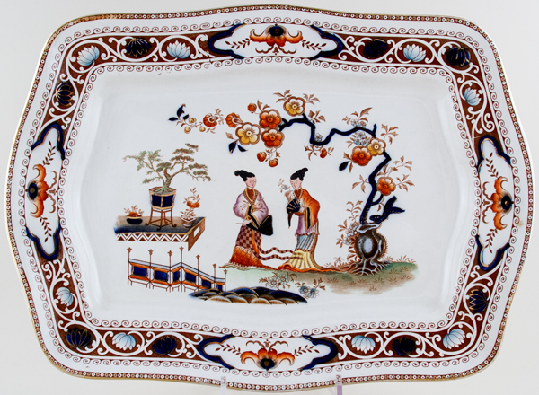 Hancock Sampson Cheng colour Meat Dish or Platter c1920s