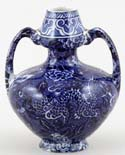 Shelley Blue Dragon Vase c1920s