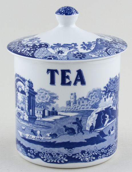 Spode Italian Storage Canister Tea c2007