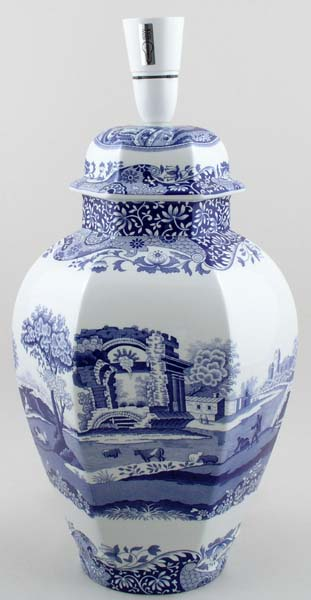 Spode Italian Table Lamp C2000 Lovers Of Blue And White