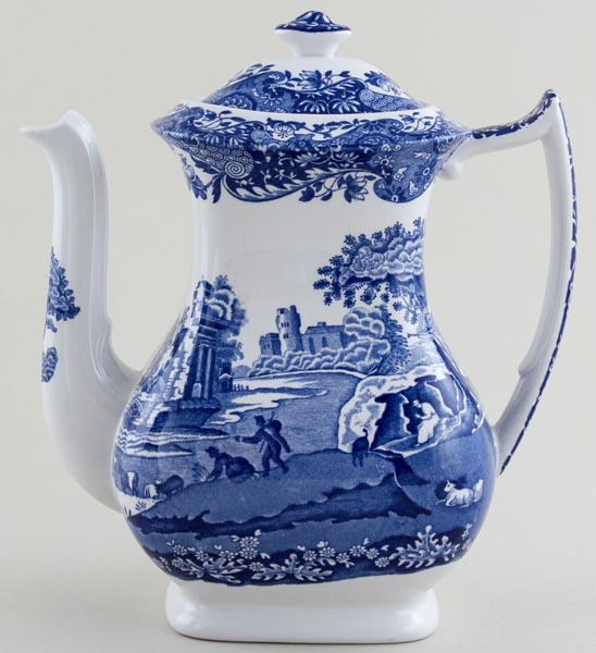 Blue Italian Coffee Maker : Spode Italian Coffee Pot c1970s Lovers of Blue and White