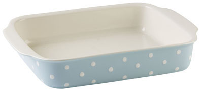 Spode Baking Days blue pale Dish rectangular