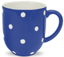 Spode Baking Days blue dark Mug Cafe shape