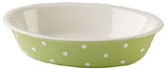 Spode Baking Days green Dish oval with rim