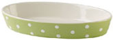 Spode Baking Days green Dish oval