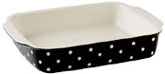 Spode Baking Days black Dish rectangular