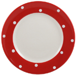 Spode Baking Days red Lunch or Salad Plate