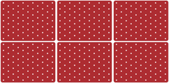 Spode Baking Days red Placemats Pack of Six