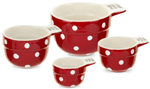 Spode Baking Days red Measuring Cups Set of Four
