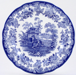 Spode Blue Room Dresser Plate The Kangaroo Enclosure