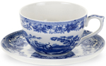 Spode Blue Room Cup and Saucer Jumbo Aesops Fables