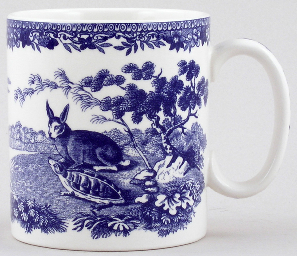 Spode Blue Room Mug Aesops Fables
