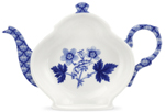 Spode Blue Room Tea Bag Tidy/Spoon Rest Geranium