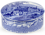 Spode Blue Room Trinket Box large Byron Views