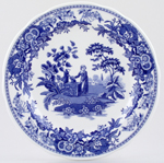 Spode Blue Room Dresser Plate Girl At Well