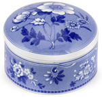 Spode Blue Room Trinket Box round Botanical