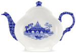 Spode Blue Room Tea Bag Tidy/Spoon Rest Rome