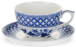 Spode Blue Room Cup and Saucer Jumbo Geranium