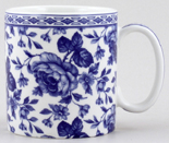 Spode Blue Room Mug Chintz Bouquet