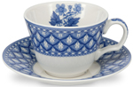 Spode Blue Room Cup and Saucer Geranium
