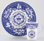 Spode Coronation Anniversary Commemorative Mug and Plate