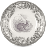 Spode Delamere Rural grey Tea Plate Rabbit
