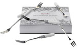 Spode Delamere Rural grey Pastry Forks set of 6