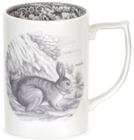 Spode Delamere Rural grey Mug Rabbit