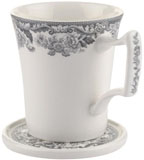 Spode Delamere Rural grey Mug and Coaster Set