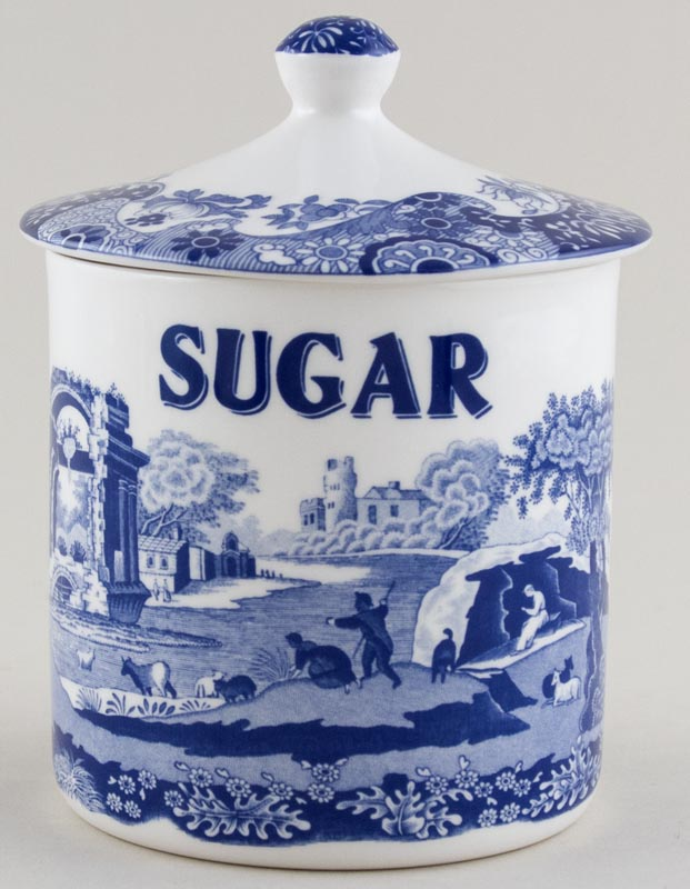 Spode Italian Storage Jar Sugar