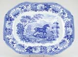 Meat Dish or Platter with tree and well Aesops Fables