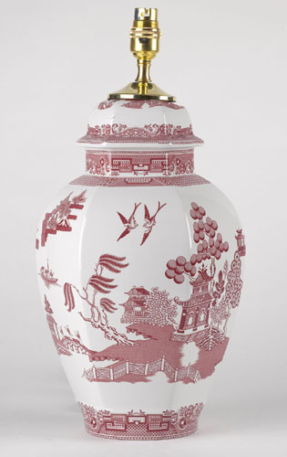 Spode Willow Red Table Lamp Lovers Of Blue And White